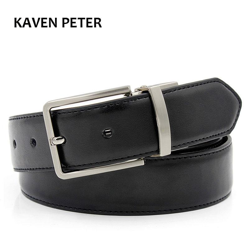 Mens Belts Luxury 2016 Hot Mens Designer Leather Belt Black Belt For Men Black  Waist Belt With 35mm Wide Reversible Buckle