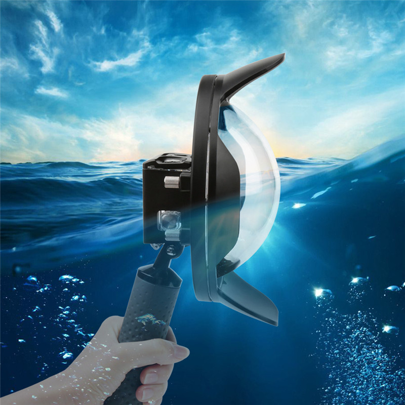 High Quality Dome Port Diving Dome For GoPro Hero 5 Sport Camera With Waterproof Case Float Bobber for Gopro Hero 5 Accessorie telesin dome port diving photography floaty handle for gopro hero 4 camera os802