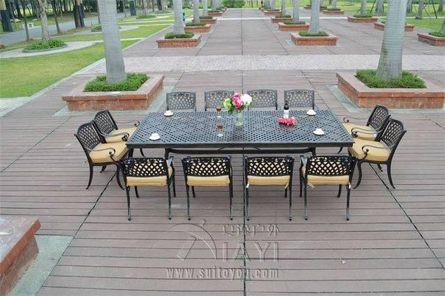 Garden Furniture Steel steel or aluminum patio furniture - modern patio