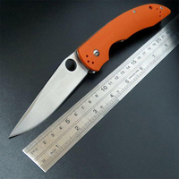 New Sale EDC Tool Sea Monster Folding Knife 58 59HRC D2 Steel G10 Handle Outdoor Tactical