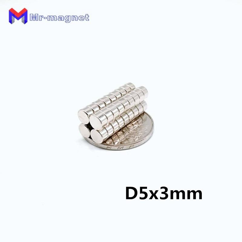 2500pcs 5x3 mm 5 x 3 N35 Super Strong Rare Earth Magnet Small Round Powerful Neodymium