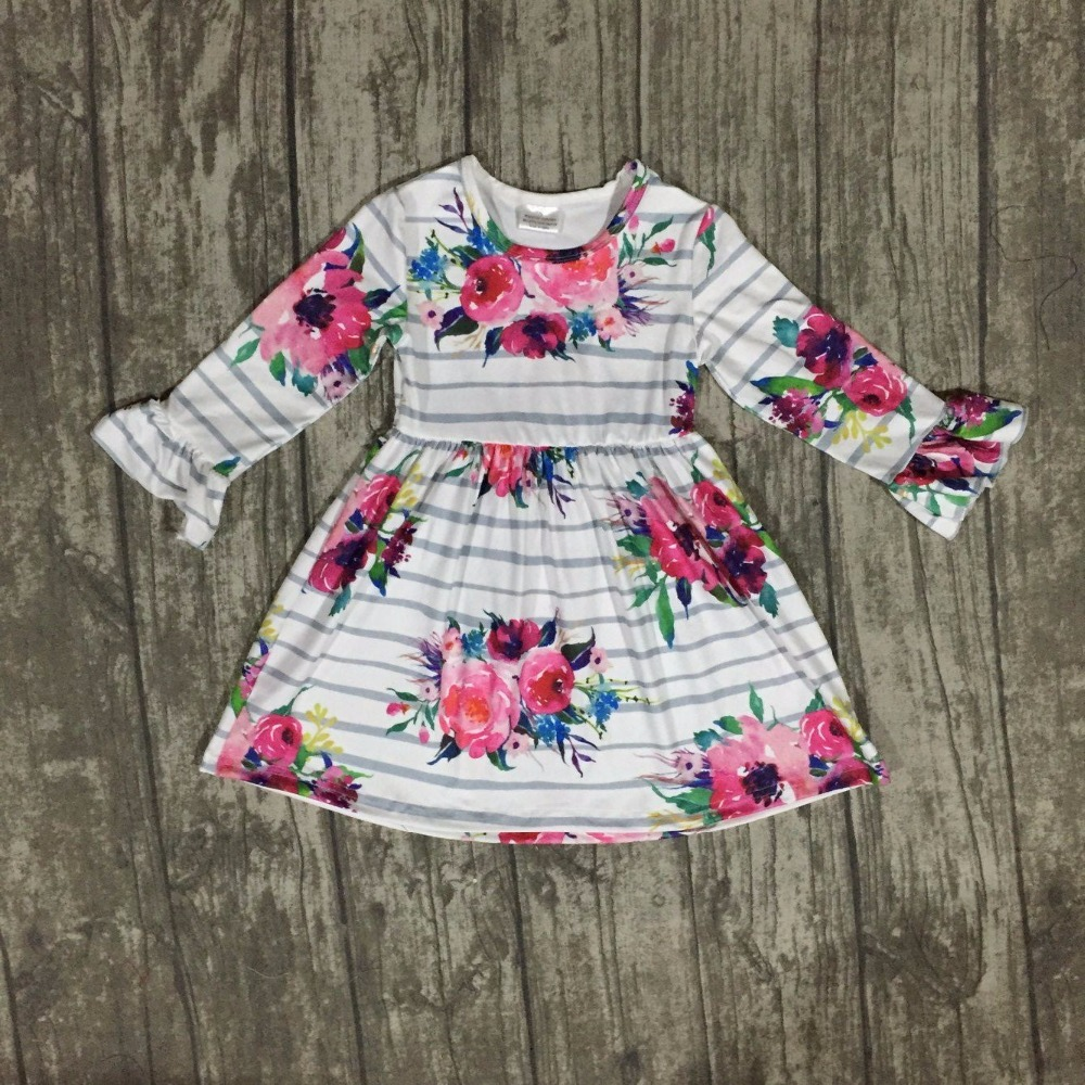 baby girls fall dress clothing children floral dress kids children Fall mink slik dress girls boutique dress clothing dress only пуховики boutique children s clothing 1305 2015