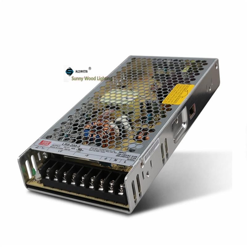 цена 100-240Vac to 5VDC ,200W ,5V40A UL Listed power supply ,LED screen ,monitor ultra slim driver ,LRS-200-5