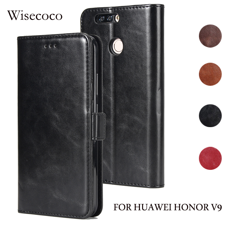 luxury flip leather cover for huawei honor 8 pro case 5 7 39 39 inch magnetic shockproof book. Black Bedroom Furniture Sets. Home Design Ideas