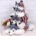 1 unid 40 cm 2015 HOT Husky siberiano está en decúbito prono perro de juguete de felpa creativos regalos de san valentín para los niños
