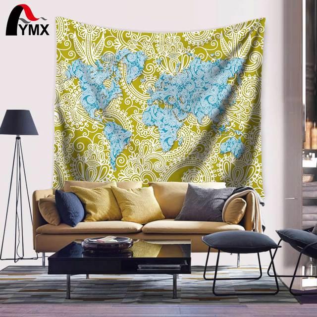 Wholesale Vintage Retro World 150*130/200CM Wall Art Hanging Carpet ...