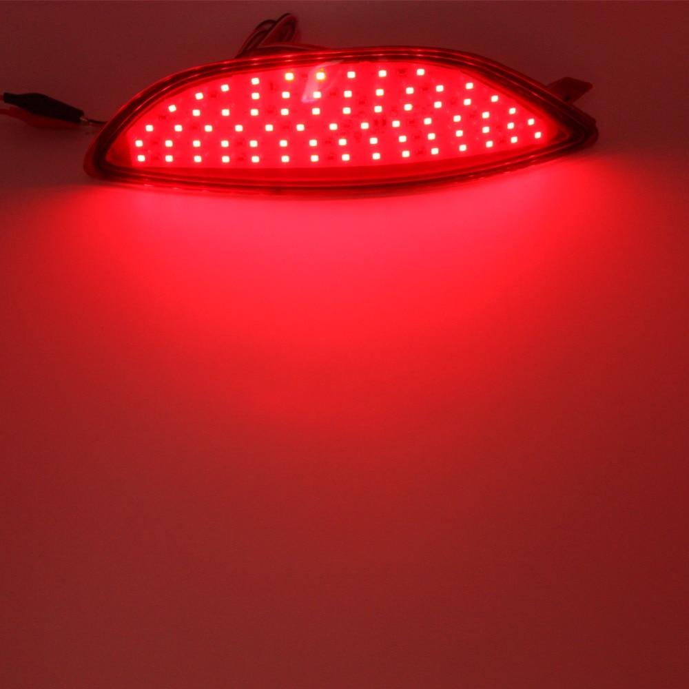 2x Kırmızı lens LED Arka tampon reflektör işık kuyruk fren Park - Araba Farları - Fotoğraf 6