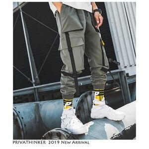 Image 5 - Privathinker hommes Hip Hop ceinture Cargo pantalon 2020 homme Patchwork salopette japonais Streetwear Joggers pantalon hommes design sarouel