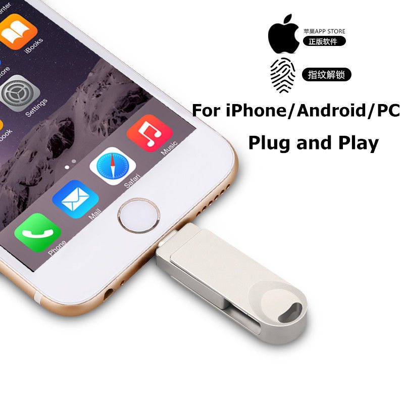 Pendrive 128GB 3 In 1 IPhone USB Flash Drive OTG Pendrive 3.0 Cle Usb Flash Drive 256GB For For IPhone /Android/Tablet PC