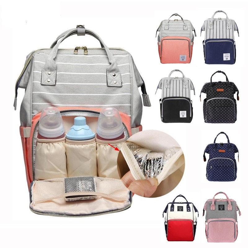 Mummy Maternity Nappy Bag Large Capacity Baby Diaper Bags Travel Backpack Nursing Bag For Baby Care Women's Bag Organizer Kits