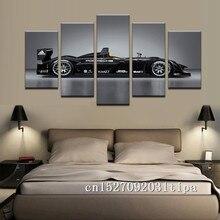 Porsche Sports Car 5 Panel pared arte abstracto pintura al óleo Poster lienzo pintura imprimir cuadros para la decoración del hogar de la sala de estar