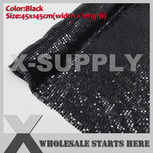 Black Aluminum Metal Fabric Mesh Without Iron on Glue For DIY Bra,Evening Dress,Skirt(China)