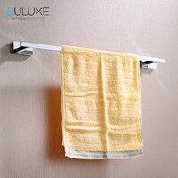 BULUXE Brass Bathroom Accessories Towel Bar Rack Holder Chrome Finished Wall Mounted Bath Acessorios de banheiro HP7763