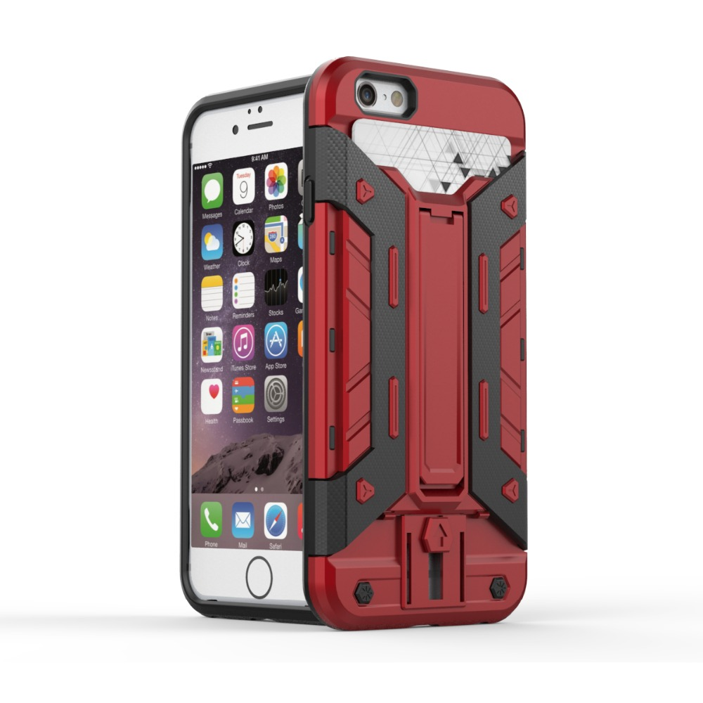 Fashion Armor Coque 2 in 1 brand Case cover For Samsung galaxy S7 S7 edge With Card Slots and Stand For iPhone 5 5s SE 6 6s plus