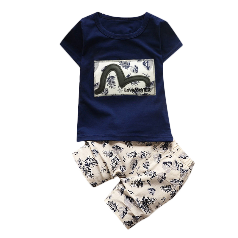 Baby Boy Clothing Summer Cotton Children Set Character Fashion Letter Short Sleeve T-Shirt+Pants Infant Girls Kids Clothes Suits 2pcs baby boy clothing set autumn baby boy clothes cotton children clothing roupas bebe infant baby costume kids t shirt pants