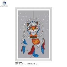 Joy Sunday Little Fox Cross Stitch Aida 14CT 11CT DIY Handwork Animal Style Kits For Embroidery Handmade Crafts