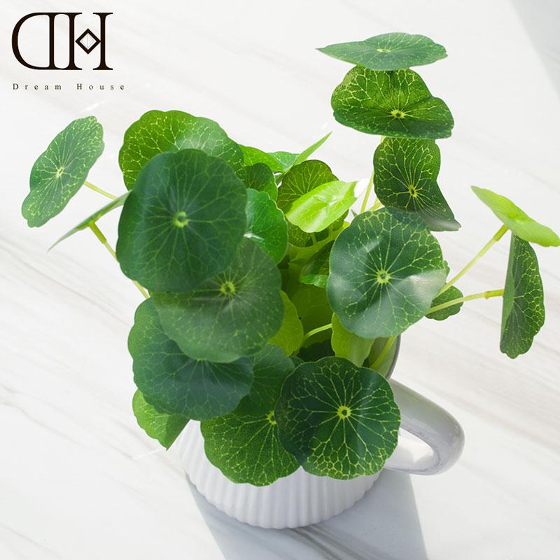 dh vivid artificial money grass real touch cheap plants artificial home decoration accessories plastic plants garden