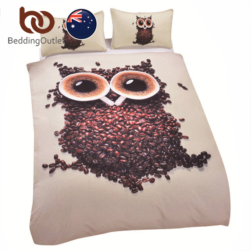BeddingOutlet High Quality 3D Bedding Sets Duvet Cover Soft Unique Design  Queen Size Owl Quilt Factory