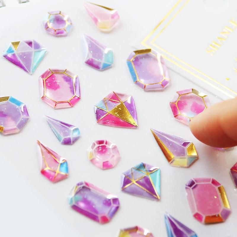Crystal Diamond 3DStickers Decorative Stationery Craft Stickers Scrapbooking DIY Stick Label