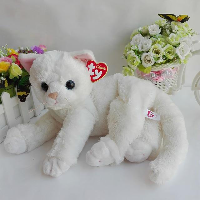 30cm Original Ty Classic Cat Plush Toy Stuffed Animal Doll Crystal