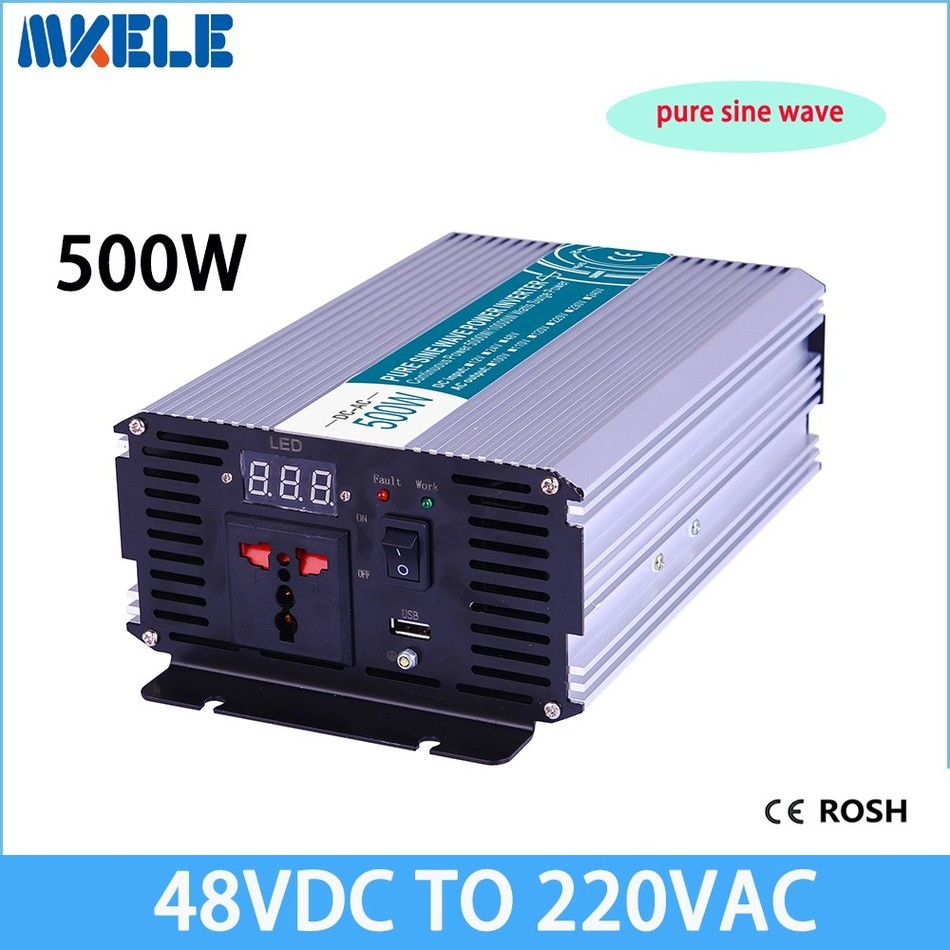 500W 48V Dc To 220v Ac Pure Sine Wave Power Inverter,inversor,voltage Converter,solar Inverter MKP500-482500W 48V Dc To 220v Ac Pure Sine Wave Power Inverter,inversor,voltage Converter,solar Inverter MKP500-482