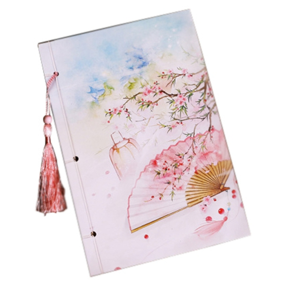 21*14cm Chinese-style classic notebook diary scrapbook vintage page color writing gift vintage wood grain color block flannel rug page 3