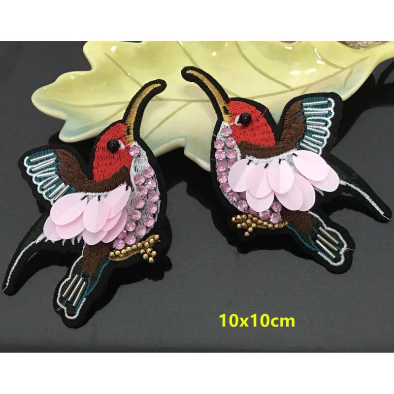 Sequined Bird Patch for Clothes Sewing on Rhinestone Beaded Applique for Jackets  Jeans Bags Shoes Beading Sequins Applique RP22 -in Patches from Home ... 6f7de09e2b2b