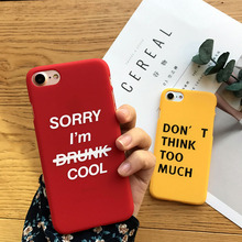 Coque for iPhone 6 6S 6Plus 7 8 Case Cover Letter Cool Ultra Slim Soft TPU Funda for Apple iPhone 6 6S 7 8 Plus Capas цена и фото
