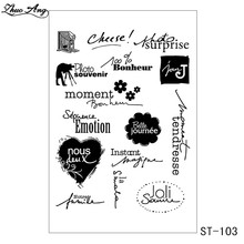 цена ZhuoAng French theme stamp Transparent and Clear Stamp DIY Scrapbooking Album Card Making DIY Decoration Making онлайн в 2017 году