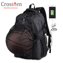 """Crossten Swiss Bag Multifunktionel 15,6 """"bærbar rygsæk Vandtæt rejsetaske Alsidige Schoolbag Rucksack bold taske"""