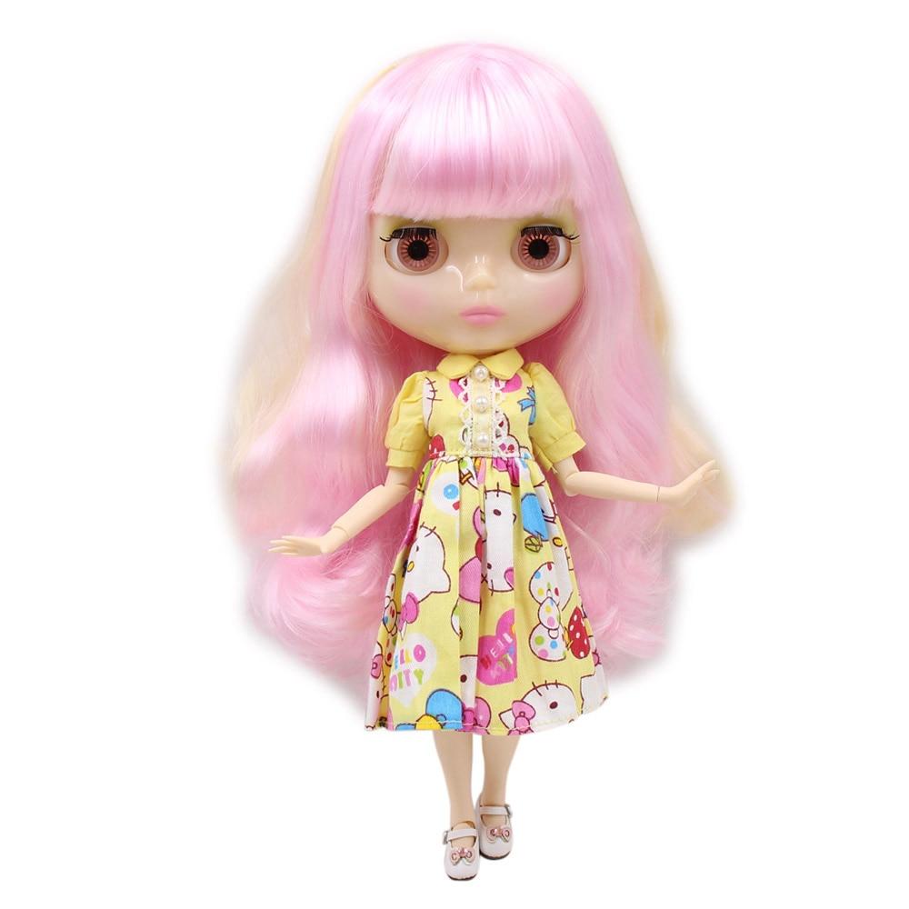 Blyth 1/6 Nude Doll Light Purple Hair With Bangs/fringe