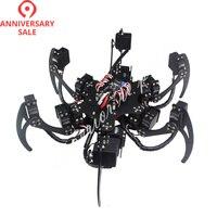 18 DOF Aluminium Hexapod Spider Six 3DOF Legs Robot Frame Kit with Ball Bearing Fully Compatible 50% OFF