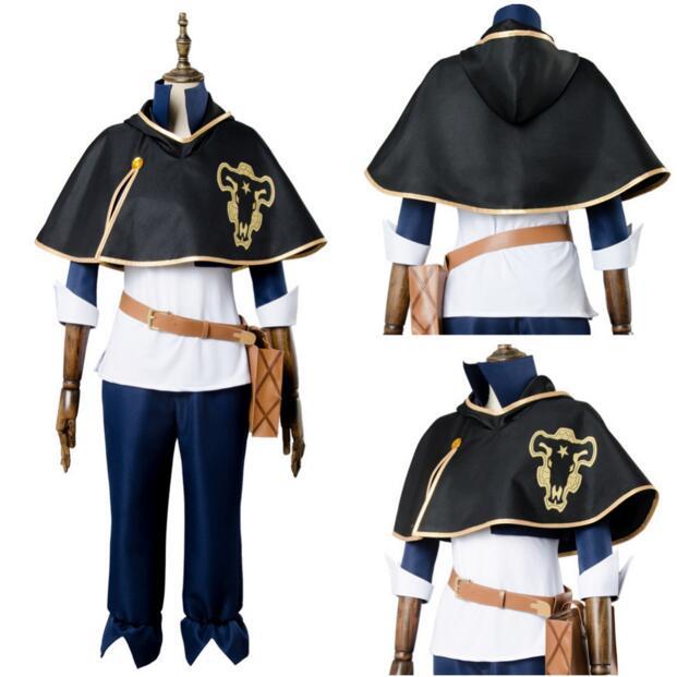 Cloak Black Clover Asta Outfit Black Bull Short Cape Cosplay Costume Unisex