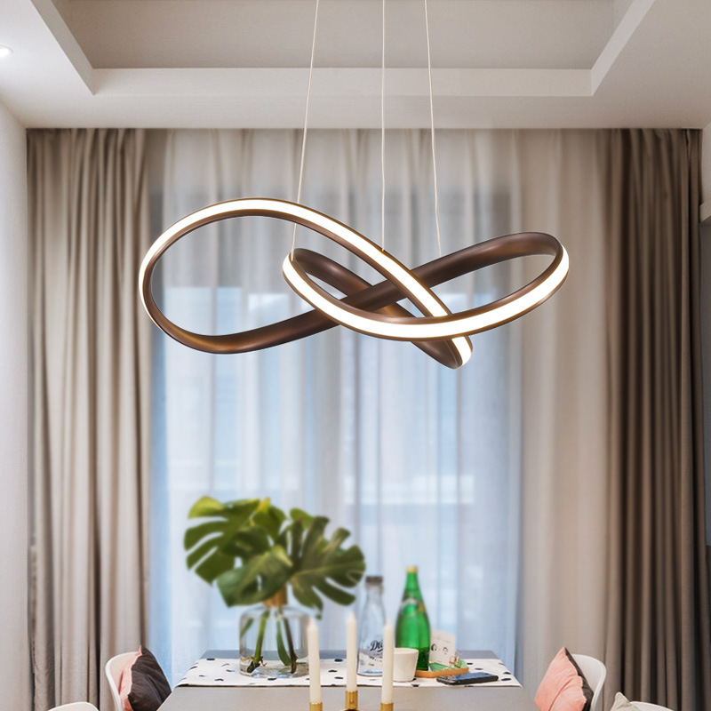 Us 106 5 29 Off Modern Creative Shaped Led Chandelier Living Room Dining Bedroom Study Lamp Commercial Lighting Fixtures In Pendant Lights From
