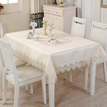 European luxury lace oil table cloth, table top, tablecloth, high grade Satin Jacquard fabric. top grade mills