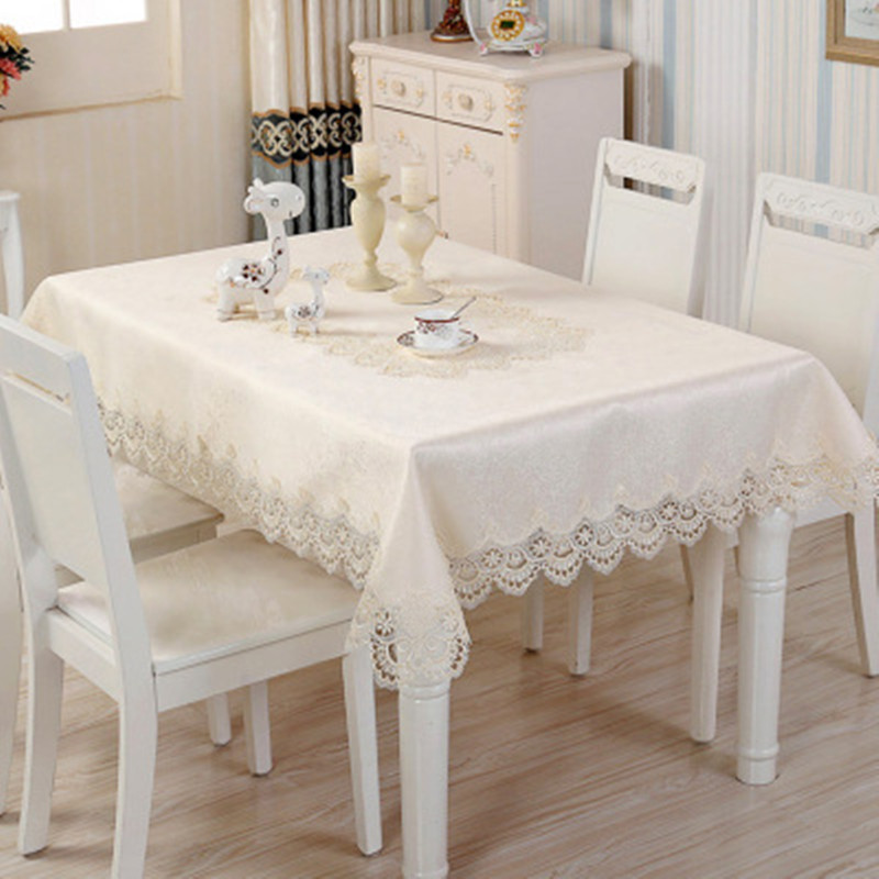 European luxury lace oil table cloth, top, tablecloth, high grade Satin Jacquard fabric.
