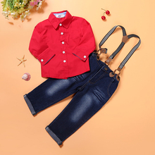 Red Spaghetti Strap Shirt & Jeans