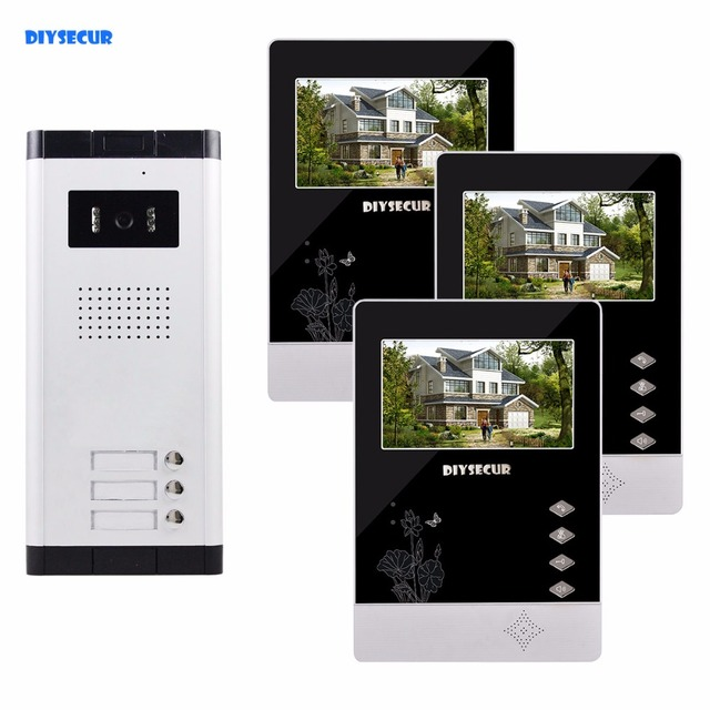 Diysecur 43 Wired Apartment Video Door Phone Audio Visual Intercom