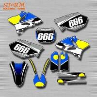 Motorcycle Decals Graphics Motorbike Customize Stickers Kits For YAMAHA YZ125 YZ250 YZ250F YZF250 WR TTR 125 450 Dirt Bike