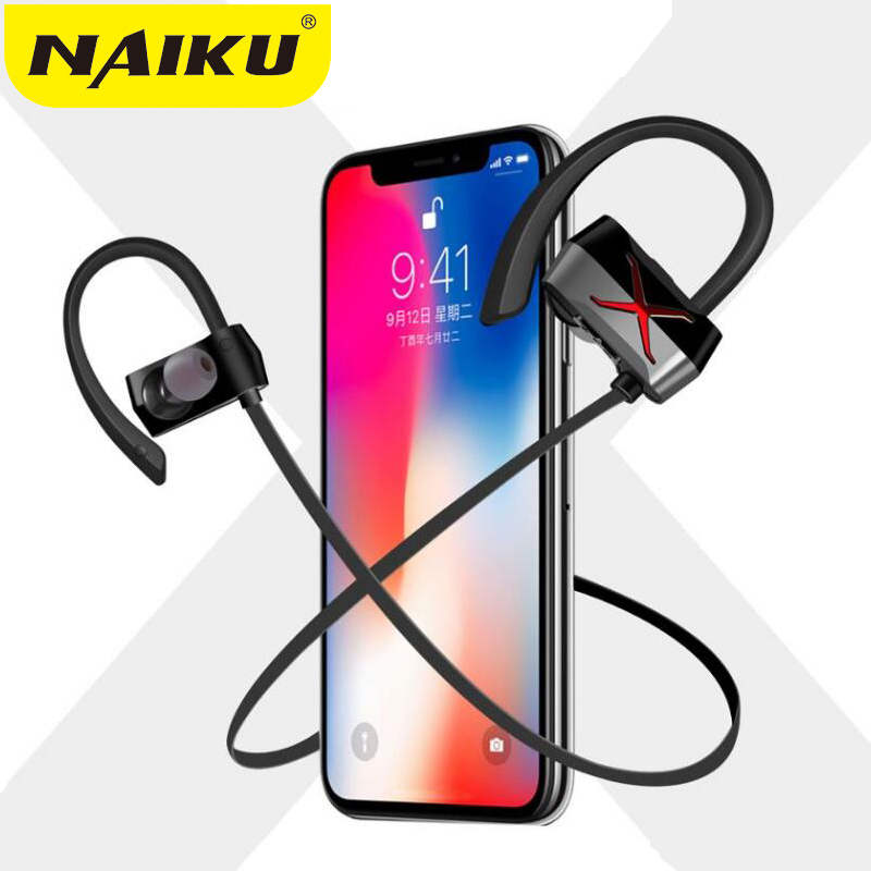 New Sports In-Ear Wireless Bluetooth Earphone Stereo Earbuds Headset Bass Earphones with Mic for iPhone X iPhone 6 Samsung Phone