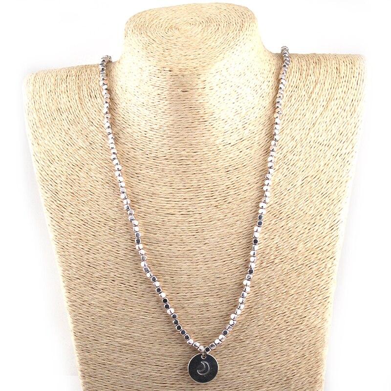 Free Shipping square Beads five row wrap bracelet Neklace double side Dream Moon charm metal bracelets