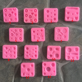 Mini Gemstone Mold Silicone Mold Miniature Food Sweets Jewelry Charms Polishing Epoxy Fondant Clay Fimo Resin Sculpey