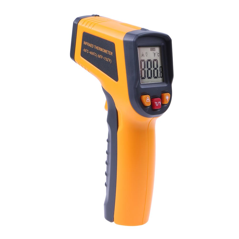 Gs320 laser lcd affichage ir numérique thermomètre auto température compteur sans contact capteur infrarouge thermomètre