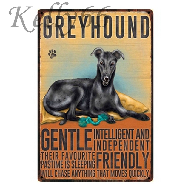 Greyhound Metal Painting 2030 Cm Size Y-1164