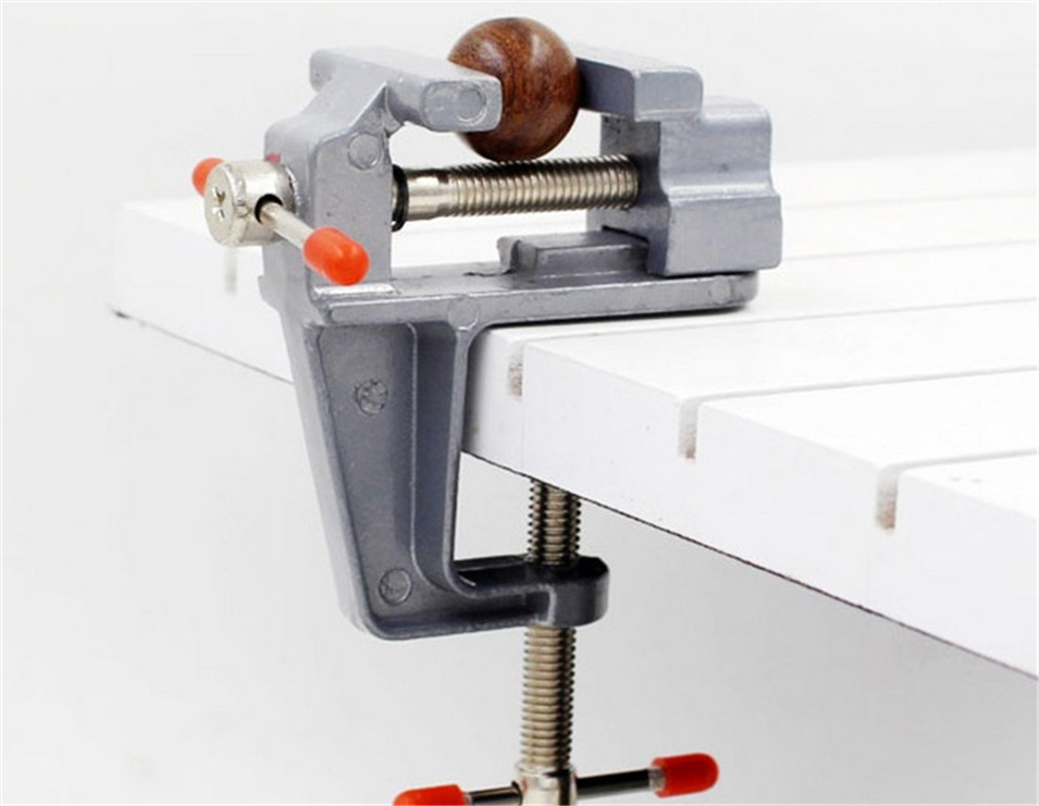 1pcs 35mm MiniAture Small Bench Vise Tool Vices Aluminum For Holding Parts In Jewelers Hobby Model Making Electronics Clamp g 35mm aluminum miniature small jewelers hobby clamp on table bench vise tool vice top quality t tools knife dremel