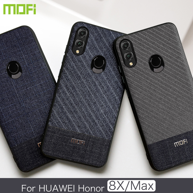 For Huawei Honor 8X Max Case Mofi For Huawei Honor 8X Case Back Cover  Business 8Xmax Dark Color Handcraft Gentleman Fabric Cloth
