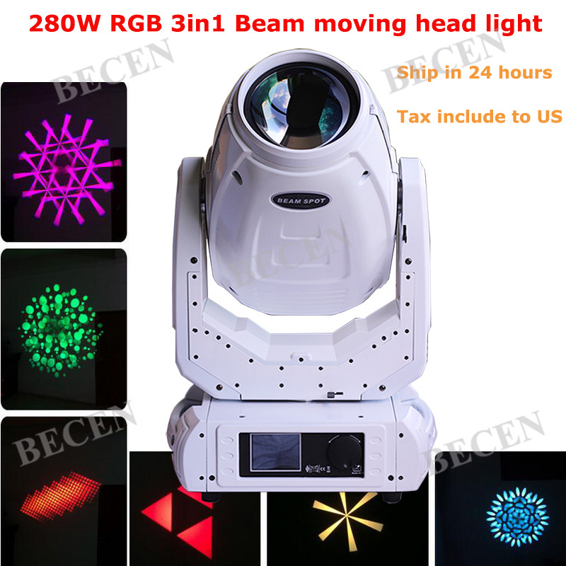 Hotsale White case 10R 280W sharpy beam moving head light spot beam wash 3in1 dj lighting for party disco