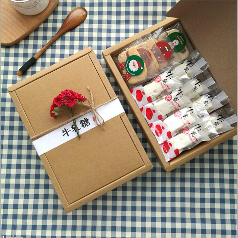 Us 57 25 Off10 Pcs Retro Mini Kraft Paper Boxdiy Wedding Gift Favor Boxesparty Candy Boxmini Single Cake Box Packaging In Gift Bags Wrapping