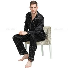 Mens Silk Satin Pajamas Set