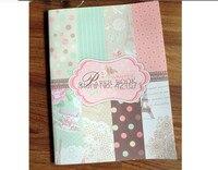 2015 emballage cadeau Décoratif BRICOLAGE Papier Livre 32 feuille/set, rose polka dot motif Scrapbooking Papier pack Ensemble, origami, papier artisanat